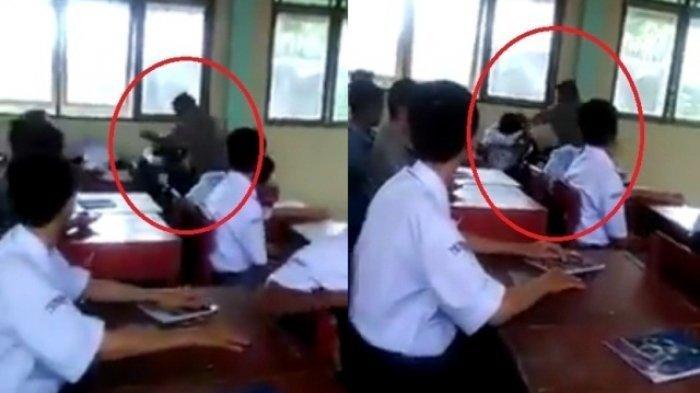 Video Pria Hantam Siswa di Kelas Viral, Ternyata Begini Kronologinya