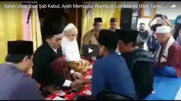 VIDEO: Ayah Mempelai Wanita Terlalu Tegang, Salah Ucap Saat Ijab Kabul Malah Bikin Ngakak