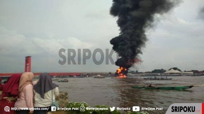 10 Orang Terluka Saat Kapal Meledak di Sungai Musi, 1 Korban Terpental Belum Ditemukan
