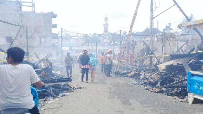 Kebakaran di Purukcahu, 50 Bangunan Hangus, Dinsos Kalteng Lakukan Ini