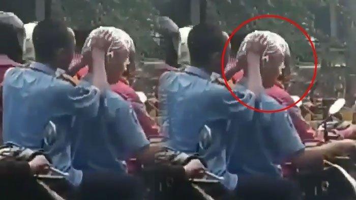 Ada-ada Saja! Dua Remaja Laki-laki Keramas di Atas Motor, Videonya Viral