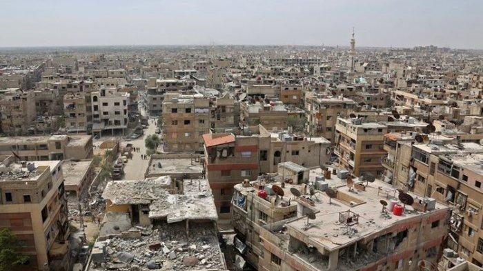 Tim Keamanan PBB Disambut Hujan Tembakan Saat Tiba di Kota Douma Suriah