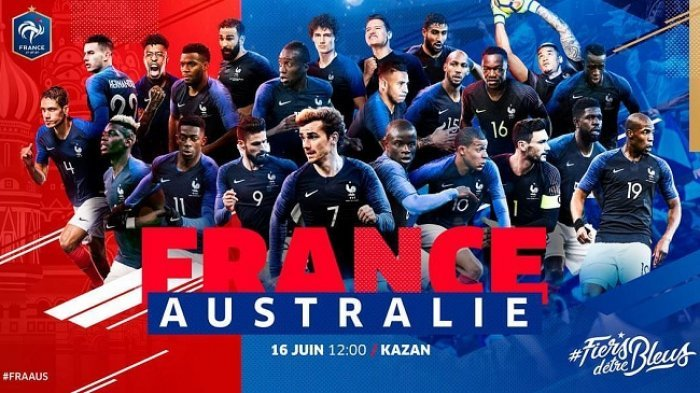 Prancis vs Australia di Grup C Piala Dunia 2018 Sore Ini, Berharap Penampilan Terbaik Pogba