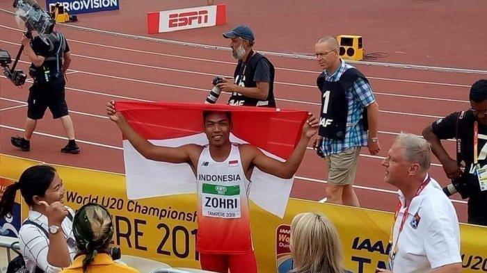 Juarai Lari 100 Meter Dunia, Muhammad Zohri Sampaikan Ini Buat Presiden dan Rakyat Indonesia
