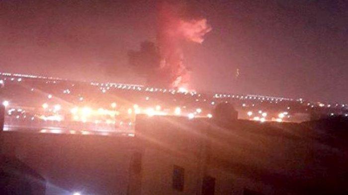 VIDEO: Pabrik Kimia Meledak di Luar Bandara Kairo, 12 Orang Menderita Luka-luka