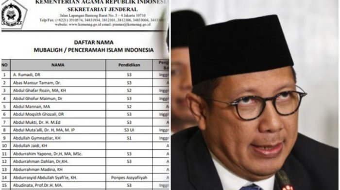 Usai Rilis Rekomendasi 200 Penceramah, Menag Lukman Hakim Minta Maaf