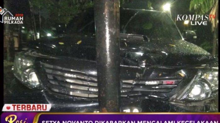Mobil Setya Novanto Tabrak Tiang Telepon, Pengacara: Pelipis Setnov Benjol Segede Bakpao