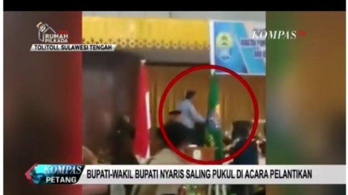 VIDEO: Bupati dan Wakilnya Nyaris Adu Pukul di Acara Pelantikan Pejabat