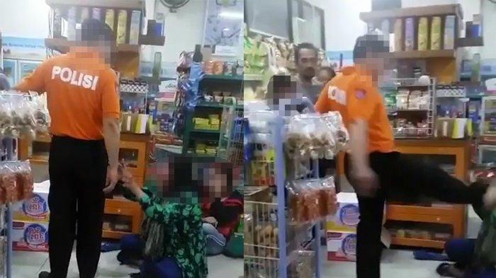 Tendang dan Pukul Seorang Wanita yang Diduga Mencuri, Oknum Polisi Itu Dicopot dari Jabatannya