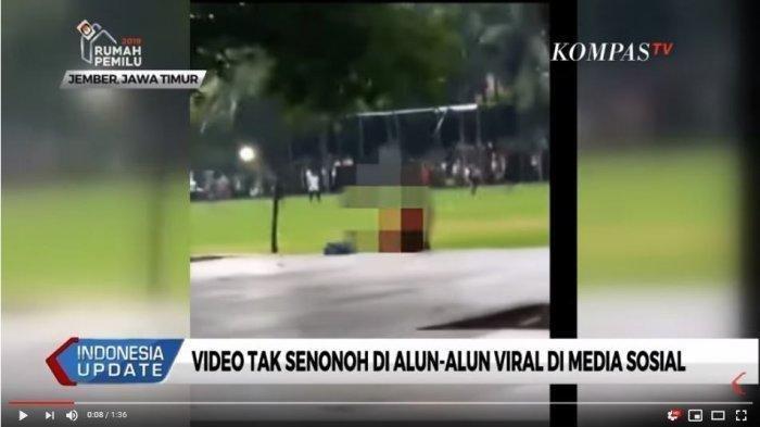 Bercumbu di Alun-alun, Sejoli ABG Ini Tak Peduli Bercumbu Dilihat Orang, Videonya Viral
