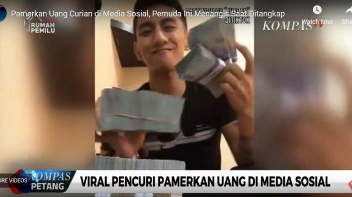 VIDEO: Ngakak saat Pamerkan Uang Curian di Media Sosial, Tapi Begini Setelah Ditangkap