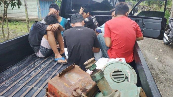 Kasus Pencurian Mesin Penggilingan Padi, Polsek Kapuas Timur Tangkap Enam Pelaku