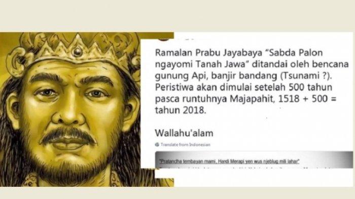 Ramalan Prabu Jayabaya, 2018 Bakal Kembali Terjadi Tsunami?