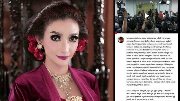 Kakak Roro Fitria Beri Jawaban Menohok Soal Pengakuan Netter yang Mengaku Keluarga