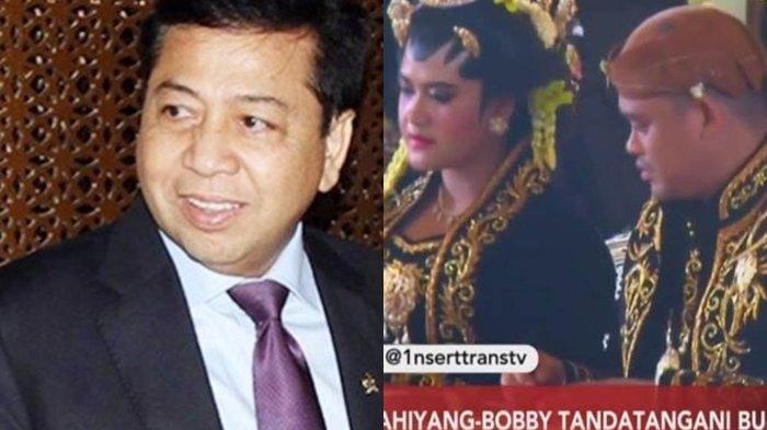 VIDEO: Setya Novanto Tertangkap Kamera Tertidur Saat Hadiri Pernikahan Putri Jokowi
