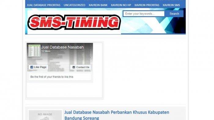 Lewat Situs Ini, Database Nasabah Bank Dijual Rp 1 Juta