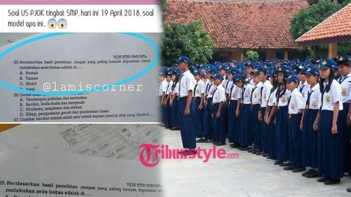 Soal Ujian SMP Bertanggal 19 April 2018 Bikin Publik Geram, Netter: Sudah Rusak Moral Anak Bangsa!