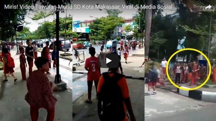 Videonya Viral, Tawuran Murid SD di Makassar Ternyata karena Cinta Segitiga