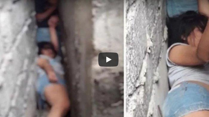 VIDEO: Wanita Ini Terjepit di Celah Bangunan, Butuh 6 Jam untuk Mengeluarkannya