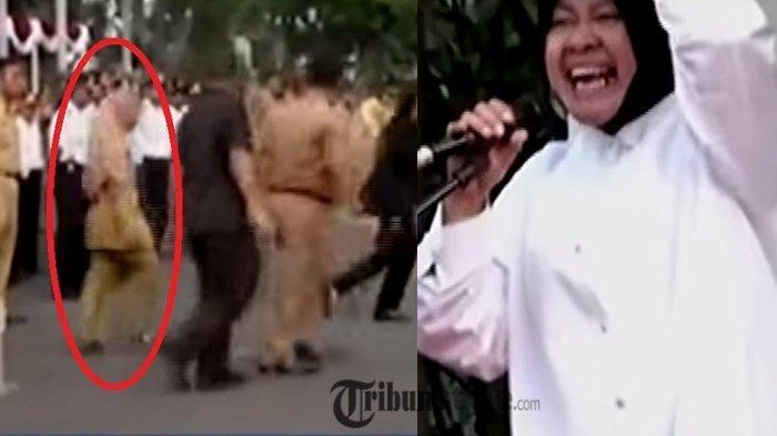 VIDEO: Risma Marah, Turun Podium Saat Upacara, Lalu Tarik PNS ke Tengah Lapangan