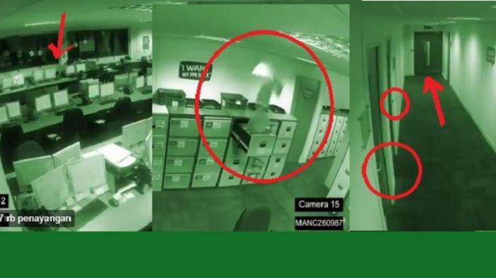 VIDEO: Merinding! Rekaman CCTV Ini Perlihatkan Situasi Horor Saat Kantor Sepi