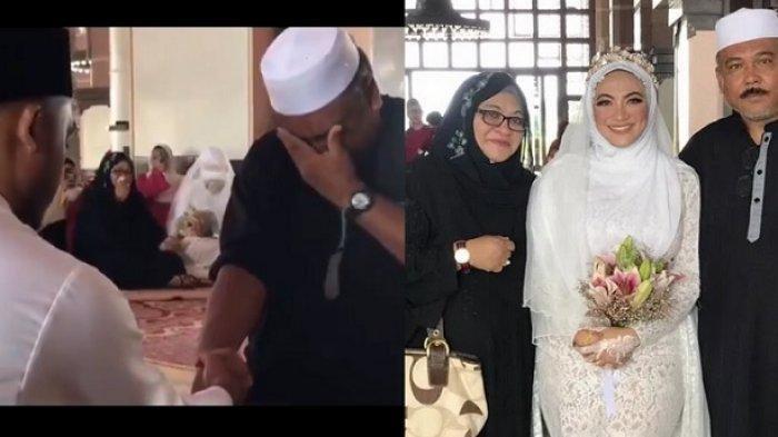 Viral Video Ayah Galak dan Garang Ini Menangis di Pernikahan Putrinya, Netizen Ikut Terharu