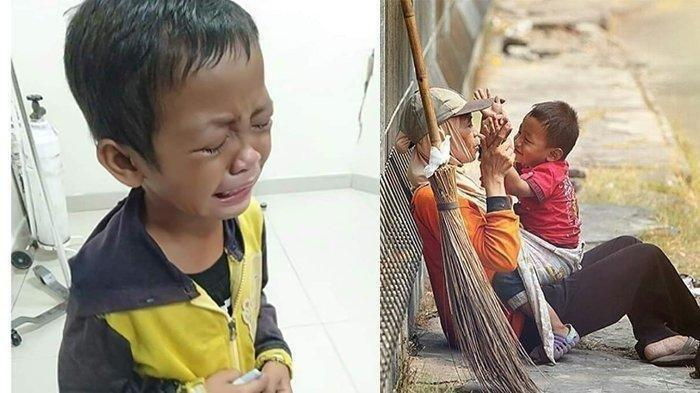 Viral Foto Bocah Menangis Histeris, Sang Ibu Tewas Akibat Tabrak Lari saat Menyapu Jalan