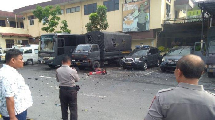 Ledakan Bom Terdengar Seperti Petir, Pelaku Bom di Polrestabes Medan 2 Orang