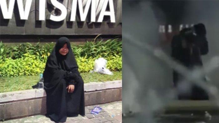 Bawa Fake Bom dan Berbaju Serba Hitam, Ternyata Ini Sosok Wanita Misterius di Aksi 22 Mei di Bawaslu