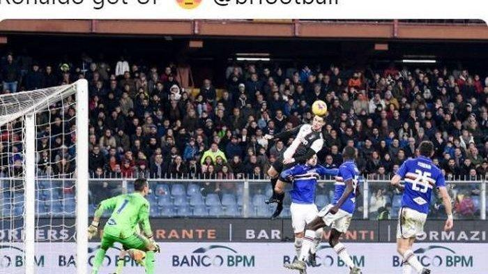 Ronaldo Ciptakan Gol Sambil Terbang, Juvetnus Kokoh di Puncak Klasemen Liga Italia