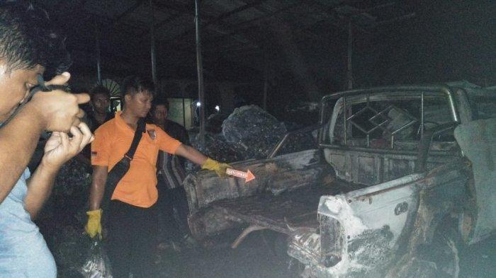Truk Fuso Terbakar di Jalan PM Noor Palangkaraya, Diduga Ini Penyebabnya