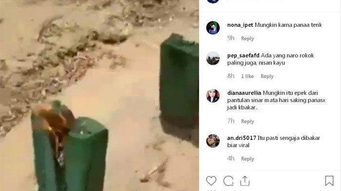 Heboh Nisan Kuburan Berasap dan Keluarkan Api, Ini Videonya