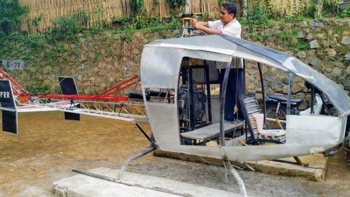 Buruh Bengkel Bikin Helikopter Atasi Kemacetan, Segera Uji Terbang