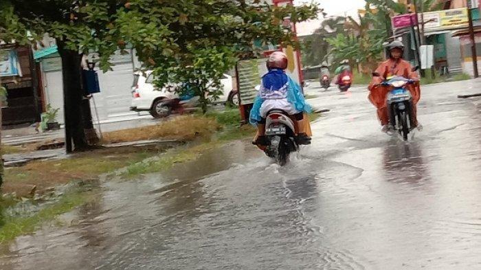 Diguyur Hujan Deras, Sejumlah Kawasan di Palangkaraya Tergenang Air
