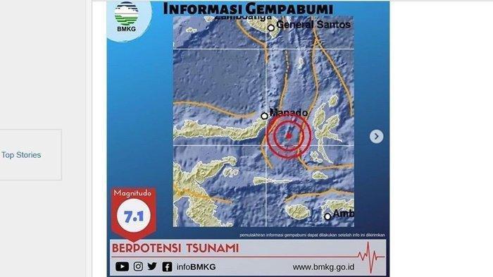 Ternate Diguncang Gempa Magnitudo 7,1, Warga Panik Berlarian Keluar Rumah