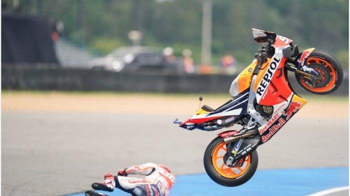 Insiden Kecelakaan Marc Marquez Jelang MotoGP Thailand 2019, The Baby Alien Sempat Dilarikan ke RS