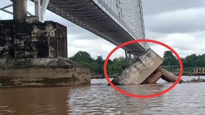 Tiang Fender Jembatan Kalahien Buntok Ambruk, Begini Kondisinya