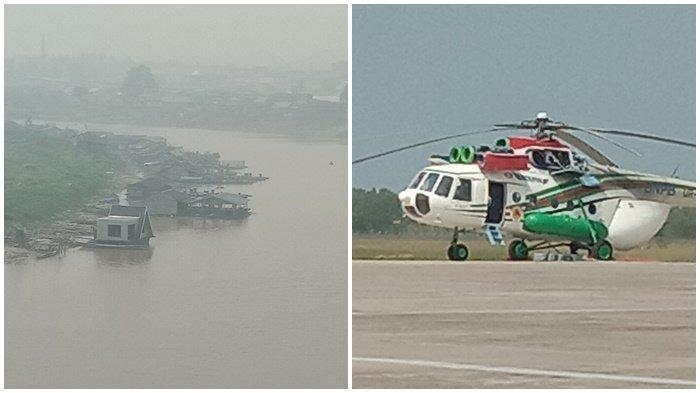 Kabut Asap Kepung Kalteng, Pemprov Minta Tambahan Helikopter Water Boombing