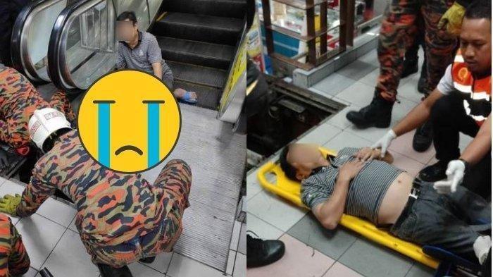 Viral Sandal Jepitnya Nyangkut di Eskalator Mal, Kaki Pria Ini Patah