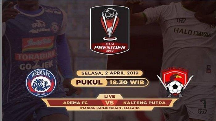Cuplikan Gol Arema FC vs Kalteng Putra, Skor Akhir 3-0 di Leg 1 Semifinal Piala Presiden 2019