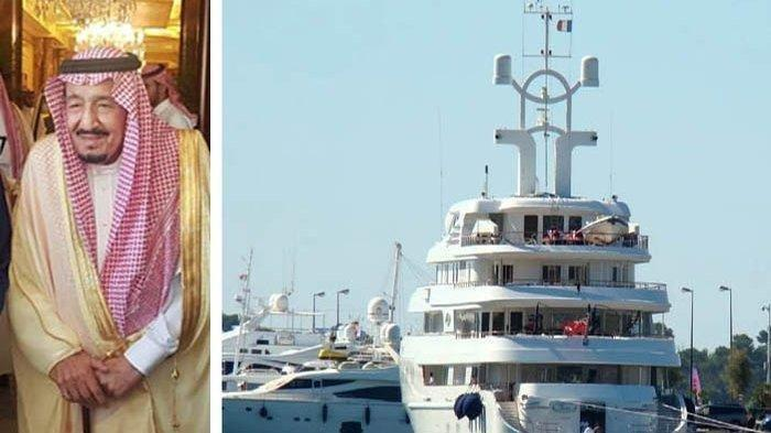 Bak Istana dan Dominan Warna Emas, Begini Penampakan Kapal Pesiar Mewah Milik Raja Salman
