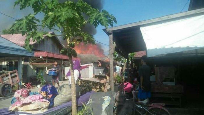 Enam Rumah di Bangkuang Buntok Terbakar, Begini Kondisi Para Korban
