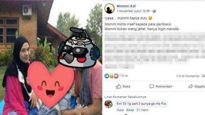 Viral Kisah Layangan Putus Dihapus dari Facebook, Mommy ASF Dapat Ancaman?