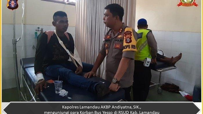 Polda Kalteng Bentuk Tim, Enam Korban Bus Yessoe Terbalik Dirujuk ke RSUD Sultan Immanuddin