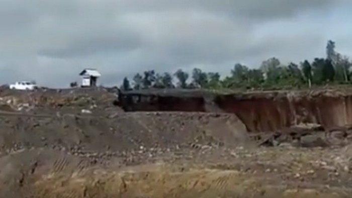 Video Viral Detik-detik Tanah Longsor di Kaltara, Alat Berat Pun Terbawa, Mirip Likuifaksi