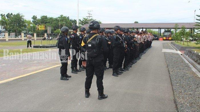 Sehari Tiba di Kapuas, Pasukan BKO dari Polda Kalteng Langsung Gelar Patroli