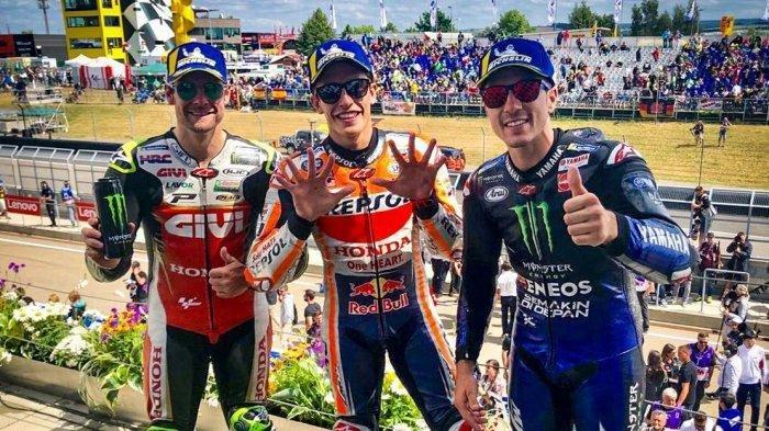 Dominan Sejak Start Marc Marquez Juara di MotoGP Jerman, Vinales Nomor 2, Valentino Rossi Finish 8