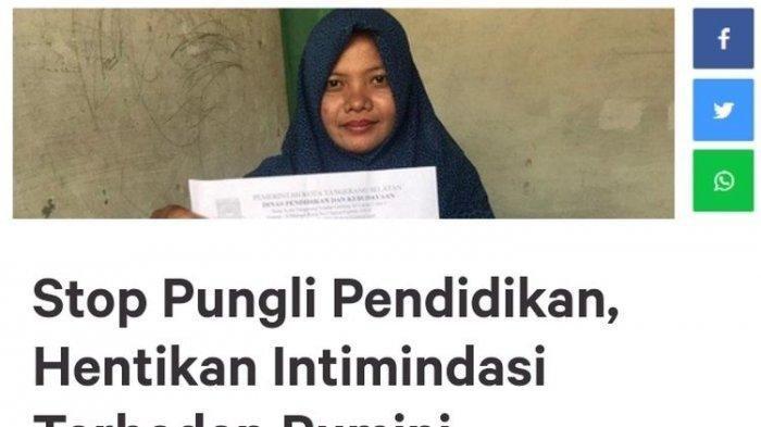 Rumini Guru Honor yang Dipecat Karena Ungkap Pungli di Sekolah, Dukungan Petisi Online Mengalir