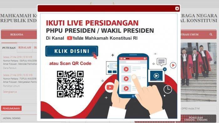 Sidang Perdana Gugatan Sengketa Pilpres Jumat 14 Juni, Bisa Tonton Lewat Link Live Streaming Ini