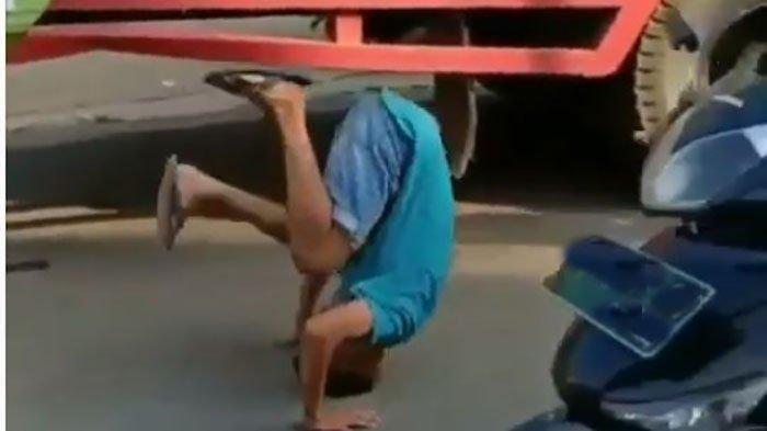 Viral Sopir Truk Dihukum Jungkir Balik di Aspal Oleh Prajurit TNI, Ugal-ugalan dan Bikin Macet